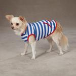 View Image 3 of Beachcomber Dog Tank by Zack & Zoey - Nautical Blue