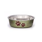 View Image 1 of Bella Stainless Steel Dog Bowl - Pesto Green