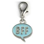 View Image 1 of BFF! Dog Collar Charm - Blue