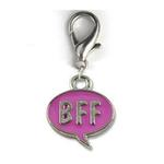 View Image 1 of BFF! Dog Collar Charm - Pink