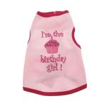 View Image 1 of Birthday Girl Dog Tank Top - Pink