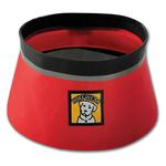 View Image 2 of Bivy Travel Dog Bowl By RuffWear - Red Currant