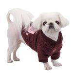 View Image 2 of Blossom Dog Hoodie by Pinkaholic - Brown