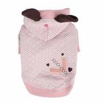 View Image 1 of Blossom Dog Hoodie by Pinkaholic - Pink