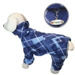 View Image 1 of Blue Argyle Turtleneck Fleece Dog Pajamas by Klippo