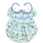 View Image 1 of Blue Belle Floral Dog Dress by Doggie Design