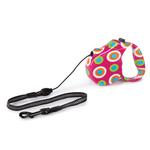 View Image 1 of Boardwalk Retractable Dog Leash - Mod Dots