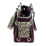View Image 3 of Bon Ami Punky Skully Dog Carrier - Purple