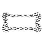 View Image 1 of Bone Shaped License Plate Frame - Dog Lover
