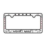 View Image 2 of Bone Shaped License Plate Frame - Woof Woof