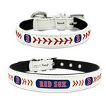 Boston Red Sox Leather Dog Collar