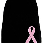 Breast Cancer Dog Tank - Black