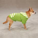 View Image 2 of Brite Stripe Pullover Dog Hoodie - Parrot Green