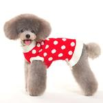 View Image 2 of Bubble Dot Dog Sweater Dress by Dogo - Red