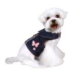 View Image 1 of Butterfly Denim Dog Harness
