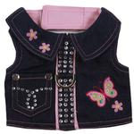 View Image 2 of Butterfly Denim Dog Harness