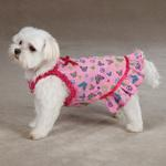 View Image 3 of Butterfly Garden Dog Dress - Pink