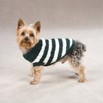View Image 1 of Cabin Striped Turtleneck Dog Sweater - Green