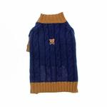 Cable N Bitz Dog Sweater - Navy