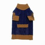 View Image 2 of Cable N Bitz Dog Sweater - Navy