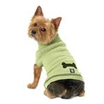 View Image 1 of Cali's Cable Knit Dog Sweater - Turf Green