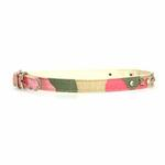 View Image 1 of Camo Diamond & Pyramid Dog Collar - Pink