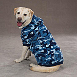 View Image 1 of Camo Hoodie - Blue