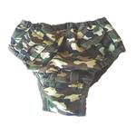 View Image 1 of Camo Pocket Dog Sanitary Pants by Puppe Love