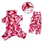 Camouflage Fleece Turtleneck Dog Pajamas by Klippo - Pink