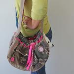 View Image 2 of Camouflage & Pink Sling Dog Carrier