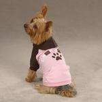View Image 2 of Camp Chew Dog Hoodie - Orchard Pink