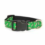 View Image 2 of Candy Cane Bones Nylon Dog Collar