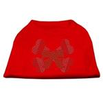 View Image 1 of Candy Cane Crossbones Rhinestone Dog Shirt - Red