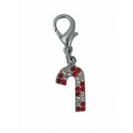 Candy Cane Holiday Collar Charm