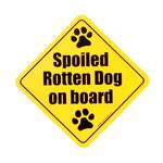 View Image 1 of Car Magnet - Spoiled Rotten Dog on Board