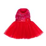Cassandra Party Dog Dress - Red