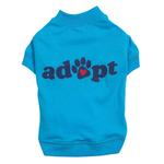 View Image 2 of Casual Canine Adopt Dog T-Shirt - Blue