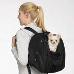 View Image 2 of Casual Canine Backpack Pet Carrier - Black
