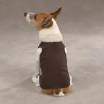 View Image 1 of Casual Canine Basic Ribbed Dog Tank Top - Chocolate