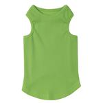 View Image 1 of Casual Canine Basic Ribbed Dog Tank Top - Parrot Green
