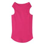 View Image 1 of Casual Canine Basic Ribbed Dog Tank Top - Raspberry Sorbet