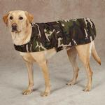 View Image 2 of Casual Canine Camo Barn Dog Coat - Green