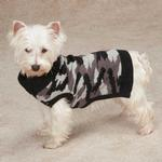 View Image 2 of Casual Canine Camo Dog Sweater - Black