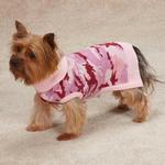 View Image 2 of Casual Canine Camo Dog Sweater - Pink
