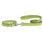 View Image 1 of Casual Canine Flat Leather Leash - Parrot Green