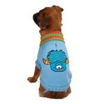 View Image 2 of Casual Canine Lil Monster Dog Sweater - Blue