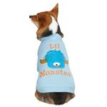 View Image 2 of Casual Canine Lil Monster Dog T-Shirt - Blue