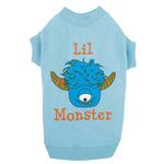 View Image 1 of Casual Canine Lil Monster Dog T-Shirt - Blue