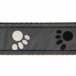 View Image 3 of Casual Canine Reflective Pawprint Dog Leash - Gray