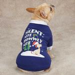 View Image 2 of Silent Night Dog T-Shirt - Blue